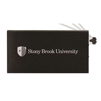 8000 mAh Portable Cell Phone Charger-Stony Brook University -Black