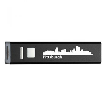 Quick Charge Portable Power Bank 2600 mAh - Pittsburgh City Skyline