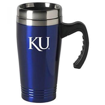 The University of Kansas-16 oz. Stainless Steel Mug-Blue