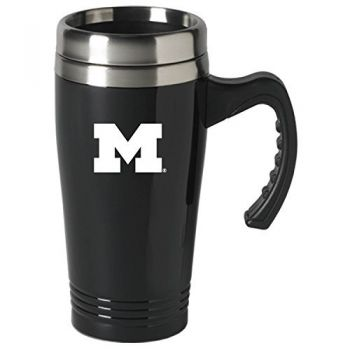 University of Michigan-16 oz. Stainless Steel Mug-Black