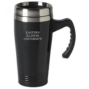 Eastern Illinois University-16 oz. Stainless Steel Mug-Black