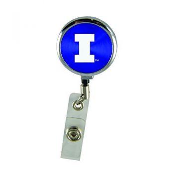 University of Illinois-Retractable Badge Reel-Blue