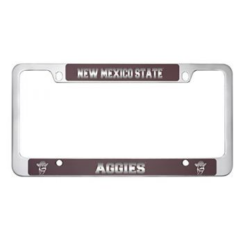 New Mexico State-Metal License Plate Frame-Burgundy