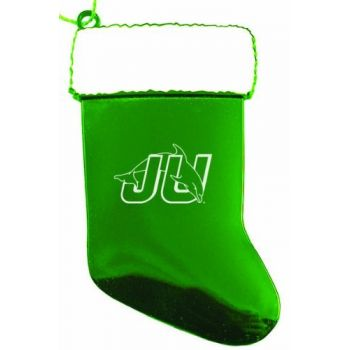 Jacksonville University - Christmas Holiday Stocking Ornament - Green