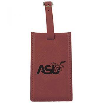 Alabama State University -Leatherette Luggage Tag-Burgundy