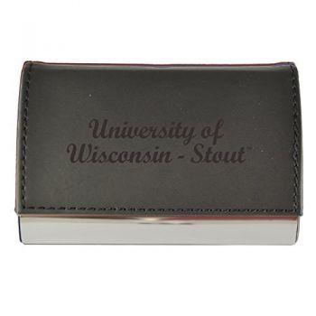 Velour Business Cardholder-University of Wisconsin-Stout-Black