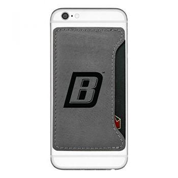 Bryant University-Cell Phone Card Holder-Grey