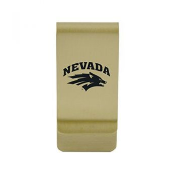 University of Nebraska|Money Clip with Contemporary Metals Finish|Solid Brass|High Tension Clip to Securely Hold Cash, Cards and ID's|Silver