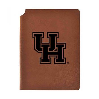 University of Houston Velour Journal with Pen Holder|Carbon Etched|Officially Licensed Collegiate Journal|