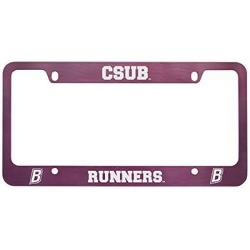 California State University, Bakersfield-Metal License Plate Frame-Pink