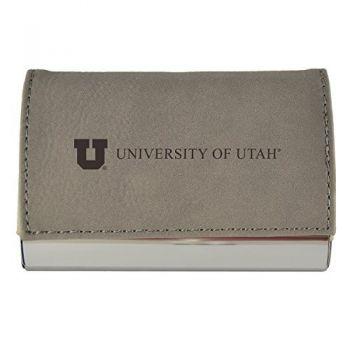 Velour Business Cardholder-University of Utah-Grey