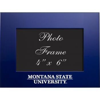 Montana State University - 4x6 Brushed Metal Picture Frame - Blue