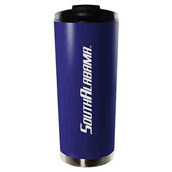 University of South Alabama-16oz. Stainless Steel Vacuum Insulated Travel Mug Tumbler-Blue