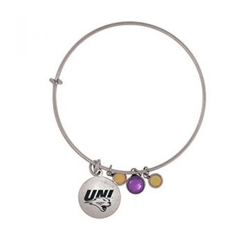 University of Northern Iowa-Frankie Tyler Charmed Bracelet