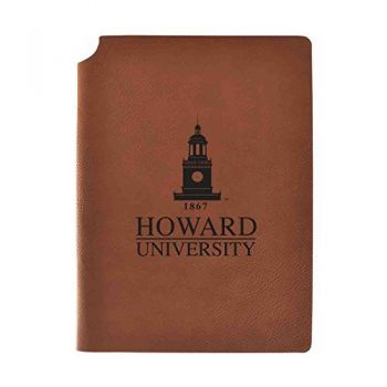 Howard University Velour Journal with Pen Holder|Carbon Etched|Officially Licensed Collegiate Journal|