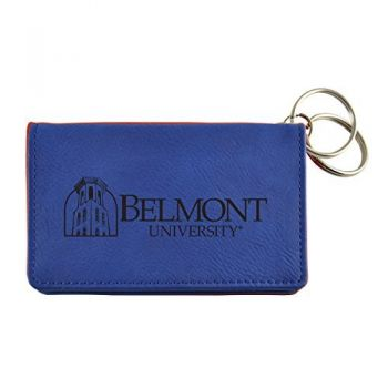Velour ID Holder-Belmont University-Blue