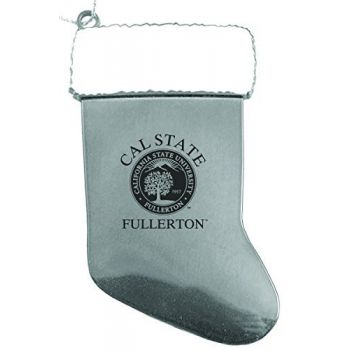 Fullerton College - Christmas Holiday Stocking Ornament - Silver