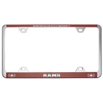 Winston-Salem State University -Metal License Plate Frame-Red