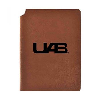 University of Alabama at Birmingham Velour Journal with Pen Holder|Carbon Etched|Officially Licensed Collegiate Journal|