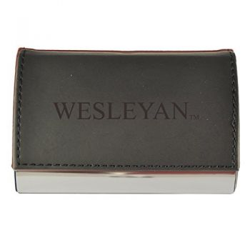 Velour Business Cardholder-Wesleyan University-Black