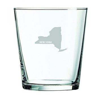 13 oz Cocktail Glass - New York State Outline - New York State Outline