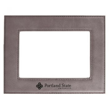 Portland State University-Velour Picture Frame 4x6-Grey