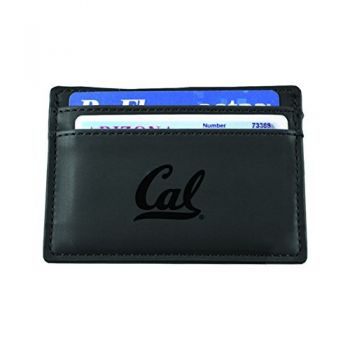 University of California, Berkeley-European Money Clip Wallet-Black