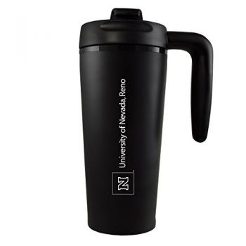 University of Nevada -16 oz. Travel Mug Tumbler with Handle-Black