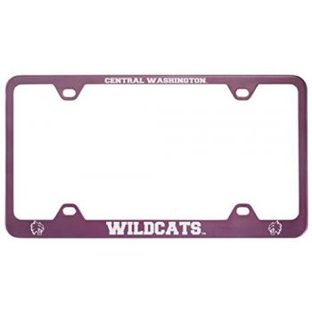 Central Washington University -Metal License Plate Frame-Pink