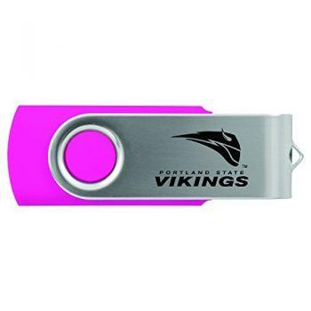 Portland State University -8GB 2.0 USB Flash Drive-Pink