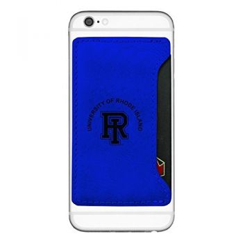 The University of Rhode Island -Cell Phone Card Holder-Blue