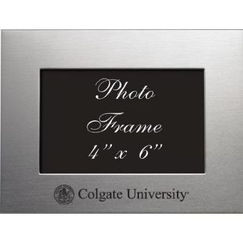 Colgate University - 4x6 Brushed Metal Picture Frame - Silver