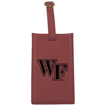 Wake Forest University -Leatherette Luggage Tag-Burgundy