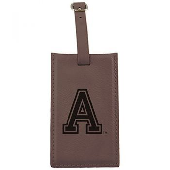 United States Military Academy -Leatherette Luggage Tag-Brown