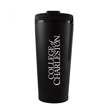 College of Charleston-16 oz. Travel Mug Tumbler-Black