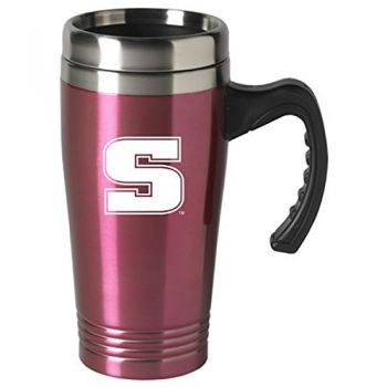 Slippery Rock University-16 oz. Stainless Steel Mug-Pink