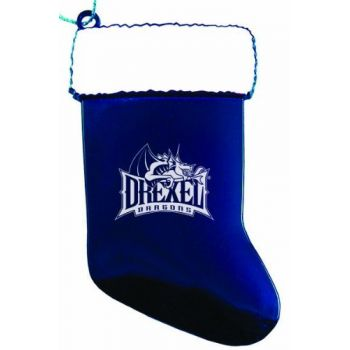 Drexel University - Christmas Holiday Stocking Ornament - Blue
