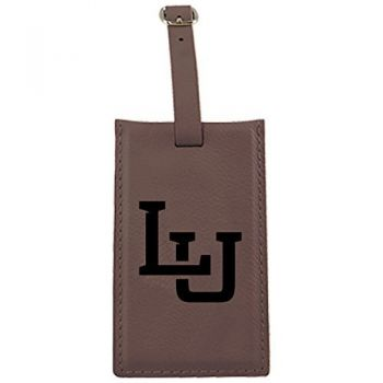Lipscomb University-Leatherette Luggage Tag-Brown