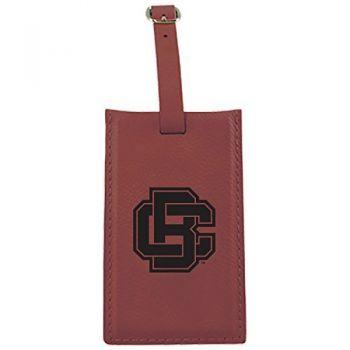 Bethune-Cookman University-Leatherette Luggage Tag-Burgundy