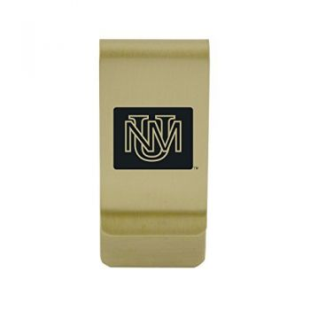 New Jersey institute of Technology|Money Clip with Contemporary Metals Finish|Solid Brass|High Tension Clip to Securely Hold Cash, Cards and ID's|Silver