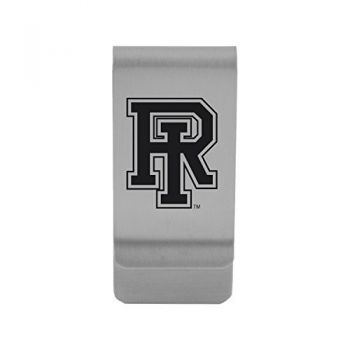 The University of Rhode Island|Money Clip with Contemporary Metals Finish|Solid Brass|High Tension Clip to Securely Hold Cash, Cards and ID's|Gold