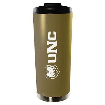 University of Northern Colorado-16oz. Stainless Steel Vacuum Insulated Travel Mug Tumbler-Gold