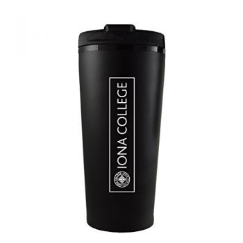 Iona College-16 oz. Travel Mug Tumbler-Black