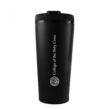 College of the Holy Cross-16 oz. Travel Mug Tumbler-Black