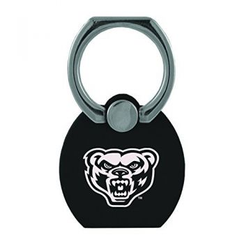 Oakland University|Multi-Functional Phone Stand Tech Ring|Black