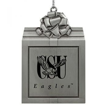 Coppin State University -Pewter Christmas Holiday Present Ornament-Silver