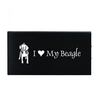 Quick Charge Portable Power Bank 8000 mAh  - I Love My Beagle