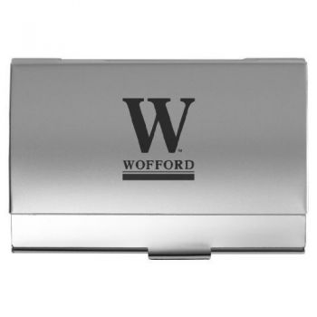 Wofford College - Two-Tone Business Card Holder - Silver