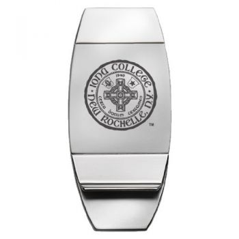 Iona College - Two-Toned Money Clip - Silver