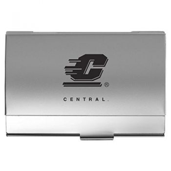 Central Michigan University - Two-Tone Business Card Holder - Silver